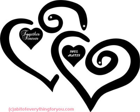 together forever soul mates heart printable art print png clipart red black digital download image graphics DIY crafts home decor