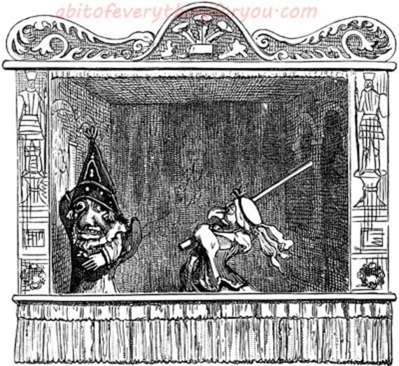 vintage puppet show clipart png jpg Digital Download printable Image downloadable graphics digital stamp