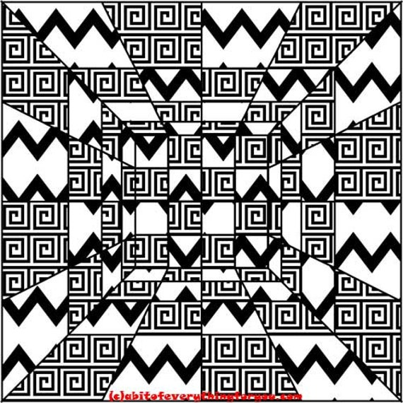 perspective geometric abstract art printable downloadable image graphics digital download black and white art