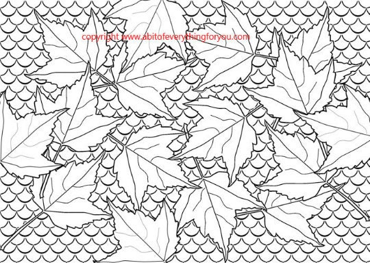 Fall Leaves Coloring Sheet