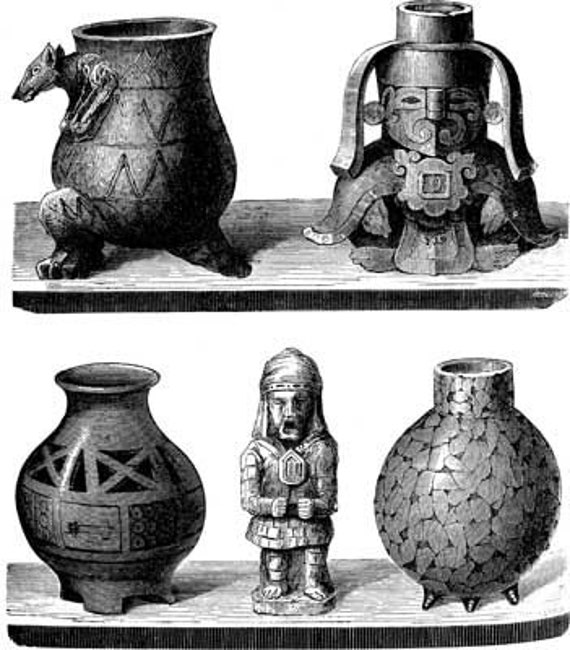 ancient pottery still life printable art clipart png download digital vintage image graphics archaeology black and white artwork