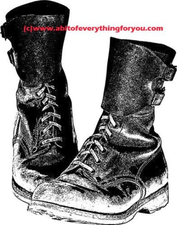 mother combat boots military moms art printable clipart png download digital image graphics woman soldier shoes black and white