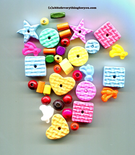 37 childrens foam beads plastic teddy bear charms childrens jewelry childrens craft lot