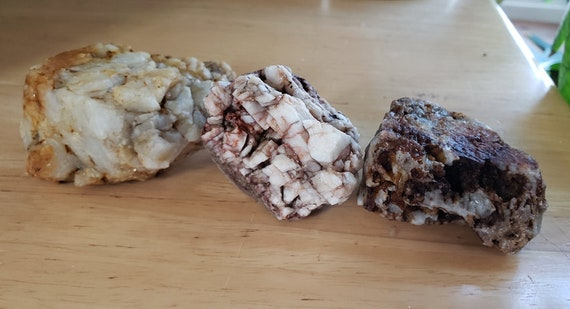 3 pc white milky Quartz crystal Rocks nuggets stone gemstone Montana 1lb raw snow quartz pyrite minerals healing feng shui natural decor