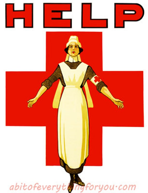 nurse red cross vintage art clipart png printable medical art download digital image downloadable graphics