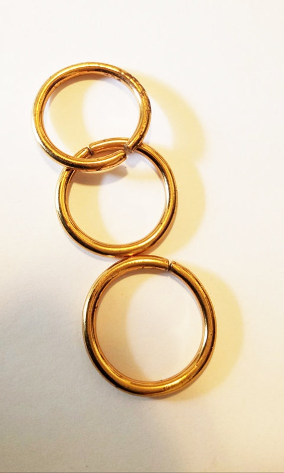 2 vintage jump rings jumprings hoops 30 mm hoop metal jewelry supplies findings