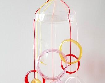 Giostrina per culla per cameretta bimba, decorazione ecologica neonato Montessori, regalo nuova nascita