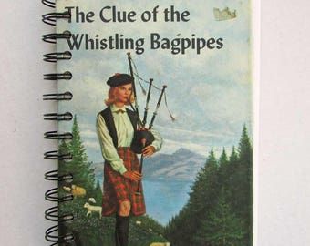 Nancy Drew Journal, Diary, Notebook, Blank Book, Recycled Book Journal, Vintage Book Journal, Clue of the Whistling Bagpipes