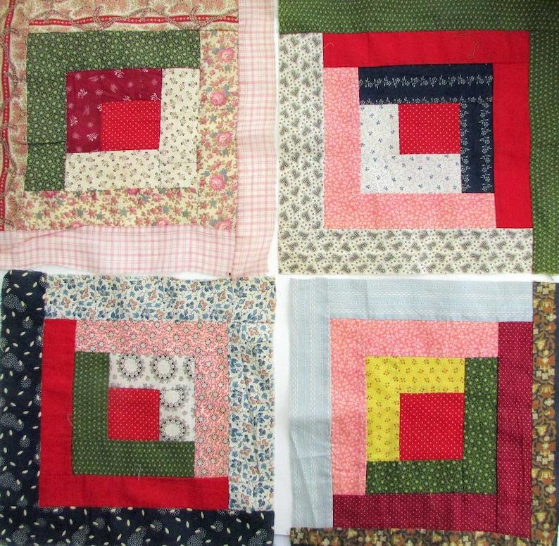 1910 Nine Patch Quilt Pattern Pieced AM