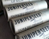 Turkish Delight Lip Balm - Big 0.33 ounce Compostable Plastic Free Cardboard Packaging - Sweetened With Stevia