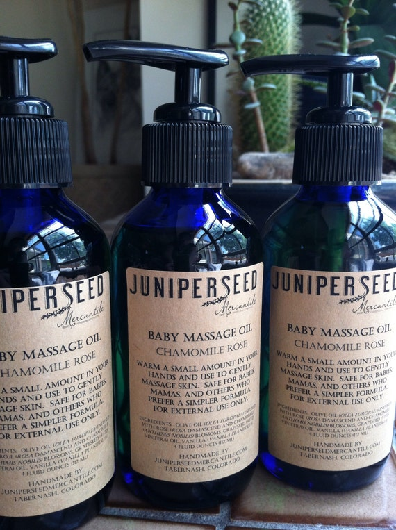Chamomile Rose Baby Massage Oil - Naturally Gentle Floral Infusion - For  Anyone Who Prefers a Simpler Formula