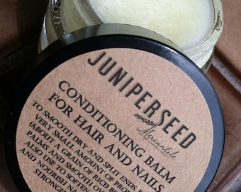 Conditioning Balm for Hair and Nails - With Coconut, Rosemary and Horsetail Extract - Glass Jar