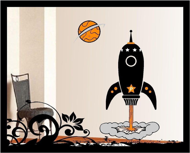 Personalized Rocket Vinyl Decal