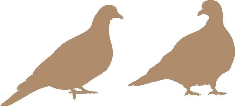 Pair of Pigeons Vinyl Decal