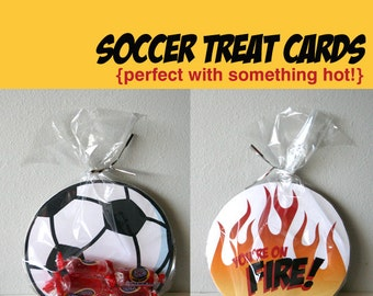 Printable Soccer Cards - You're on Fire
