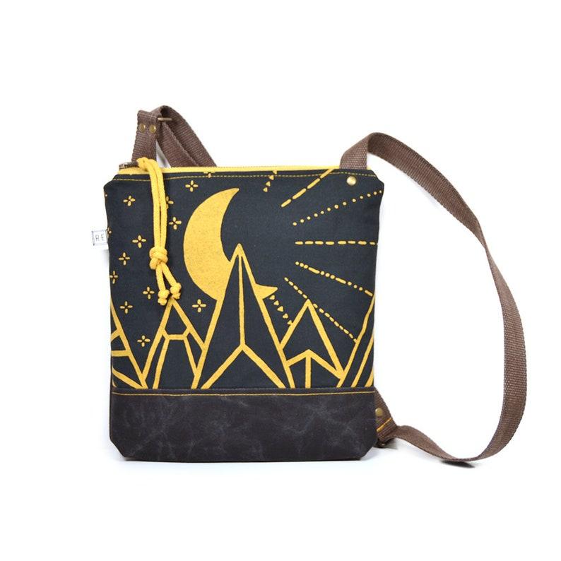 33221636af55 Vegan cross body bag waxed canvas crossbody purse | Etsy