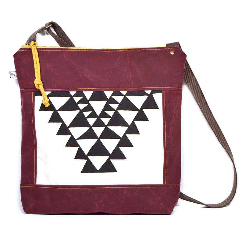 7d24b598598b97 Waxed canvas crossbody bag vegan messenger bag black and   Etsy