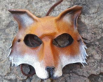 Fox Mask in Leather
