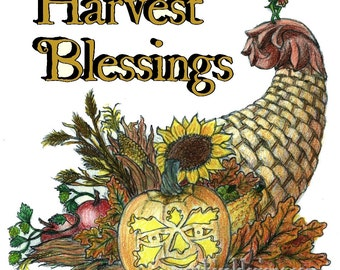 Harvest Blessings Holiday Greeting Card
