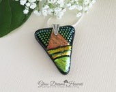 Art Glass Pendant, Fused ...