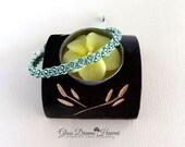 Beaded Macrame Bracelet, Handmade Macrame Bracelet,  Boho Stack Bracelet, Friendship Bracelet, Bollywood Style Bracelet, Silver Turtle Charm