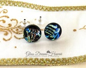 Fused Glass Stud Earrings...