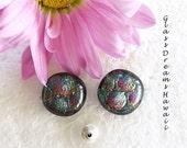 Mosaic Glass Stud Earring...