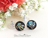 Stylish Art Glass Stud Ea...