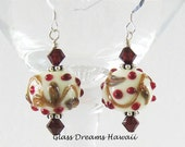 Holiday Glass Dangle Earr...
