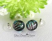 Art Glass Stud Earrings, ...
