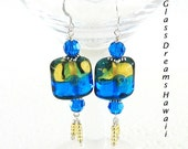 Glass Dangle Earrings, Ha...