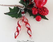 Glass Icicle Dangle Earri...
