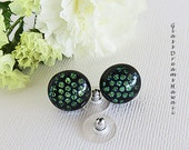 Glass Stud Earrings, Hand...