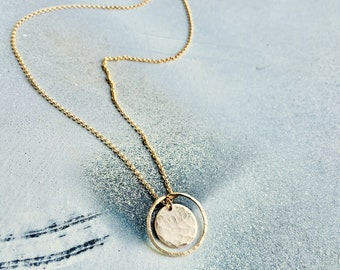 Orbit Necklace, Open and Closed Circle Necklace