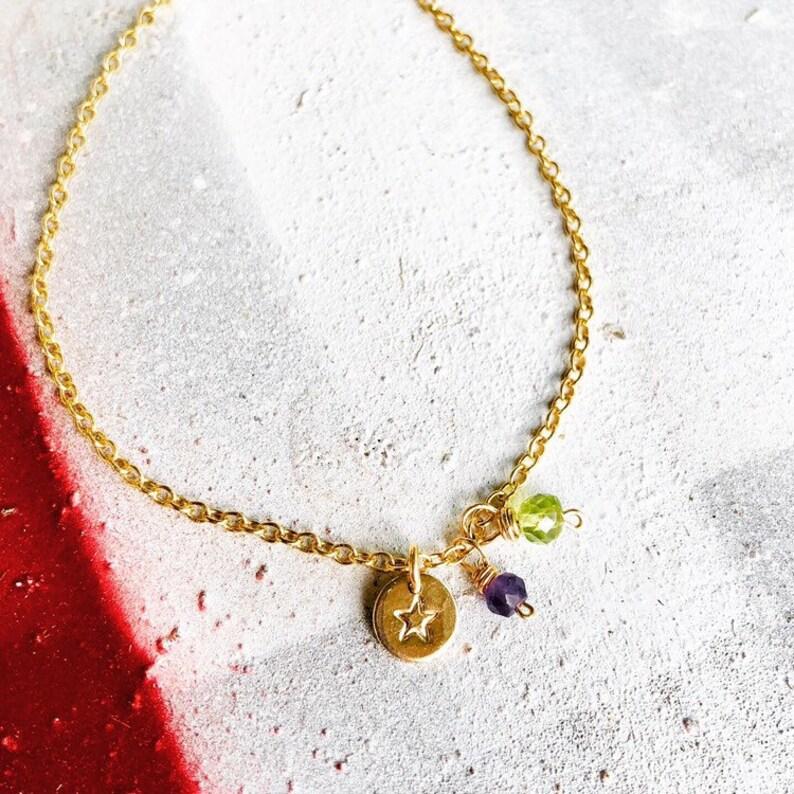 Ankle Bracelet Anklet Gold Charm Ankle Bracelet Silver image 0