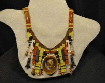 Horn Woven Necklace 874