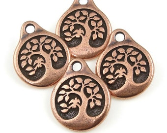 Antique Finish TierraCast OM Charm Drop Gold or Copper 4 Pc. Silver