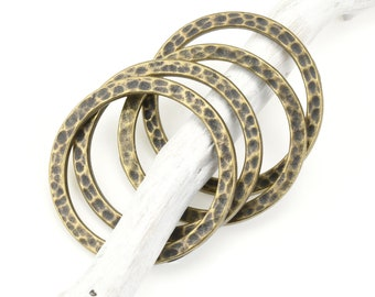 Hammered Ring Raw Brass Triangle Rings Geometric Rings Handmade Ring Ring Blank Adjustable Ring TFK14-2