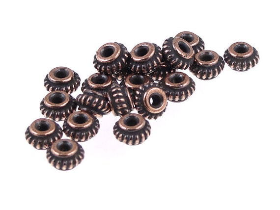20 Pcs 6mm Antique Copper TierraCast Meadow Bead #CK672