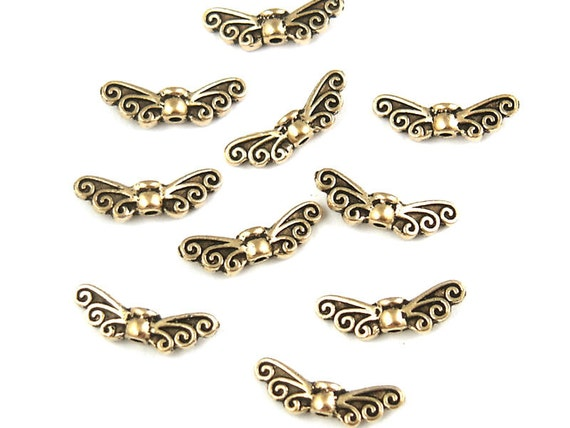 Antique Gold Beads P382 9mm Gold Celtic Beads Knotwork Knot Work Tierra Cast TierraCast CELTIC TRIAD Beads