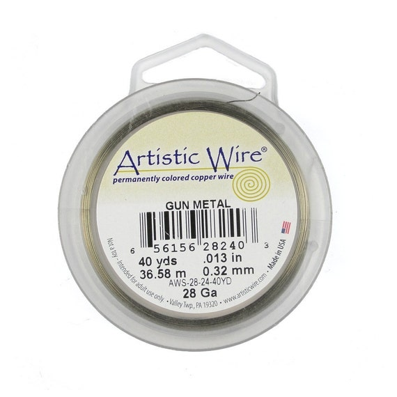 Artistic Wire 28g Antique Brass Wire 40 Yards of very thin