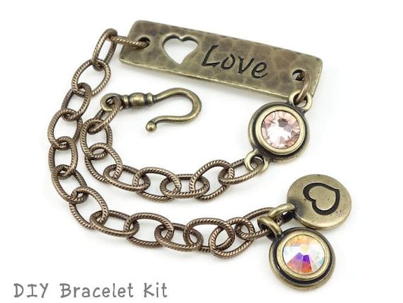 Do It Yourself Jewelry: Antique Brass Bracelet DIY Do It Yourself Jewelry Kit