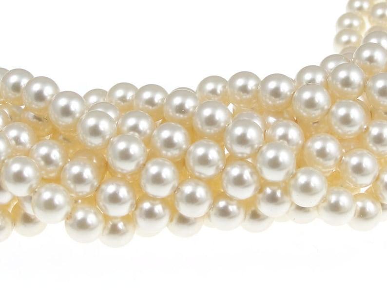 816e54c05b81 500 CREAM 6mm Swarovski Crystal Pearl Beads 5810 6mm Swarovski
