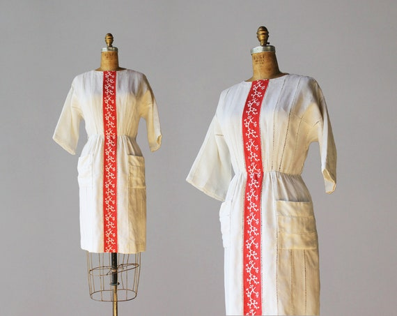 1960s Vintage Dress / 60s Carlye Moygashel Linen E
