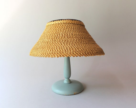 1950s Hat / 50s Vintage Straw Lampshade Summer Hat - image 1