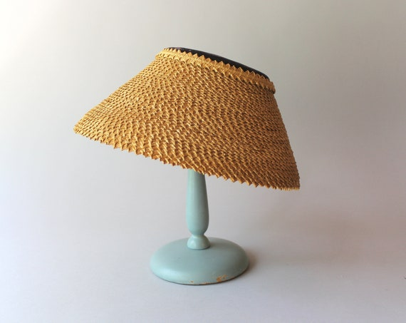 1950s Hat / 50s Vintage Straw Lampshade Summer Hat - image 2