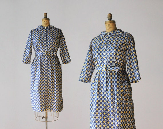 1930s Vintage Dress / 30s Printed Cotton House Cho