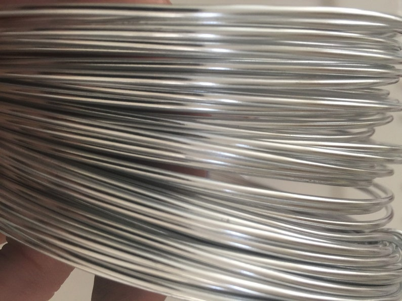 12 gauge silver aluminum wire 39 feet silver wire aluminum image 0