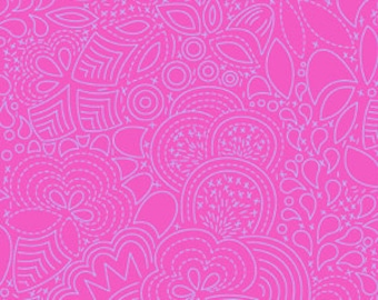 Pink Paisley Seventy SIx Alison Glass Andover Fabric 1 yard