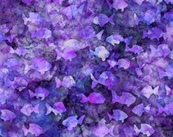 Aquatica Fish Blender Purple Dan Morris Quilting Treasures Fabric